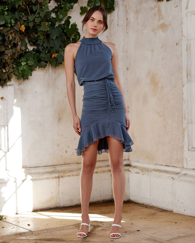 Twosisters The Label Pip Midi Dress Steel Blue