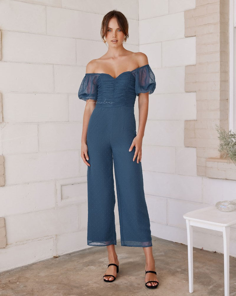 Twosisters The Label Harriette Jumpsuit Steel Blue