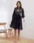 Twosisters The Label Avril Midi Dress Navy