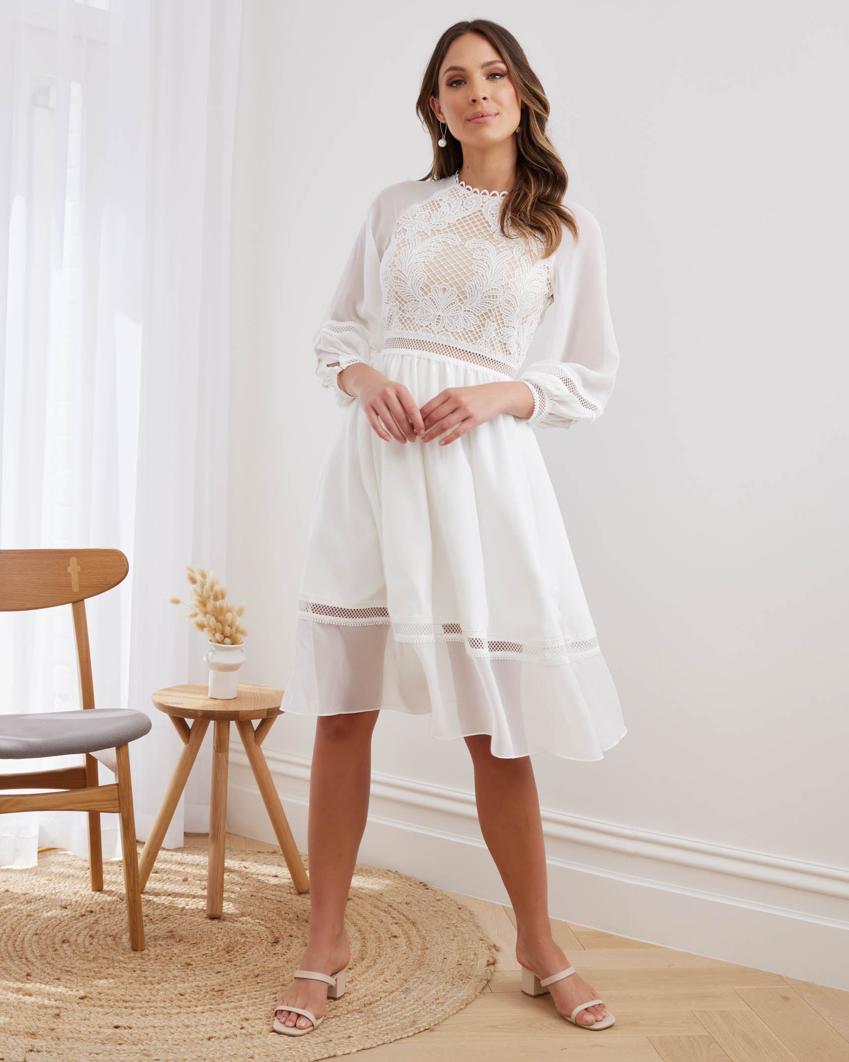 Twosisters The Label Avril Midi Dress White