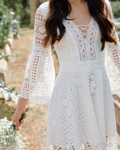 Twosisters The Label Boho High Low Dress White
