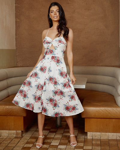 Twosisters The Label Charlotte Dress Poppy Print