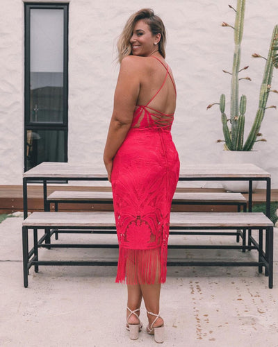 Twosisters The Label Khaleesi Dress Hot Pink