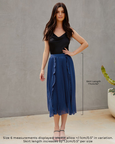 Twosisters The Label Maia Skirt Steel Blue