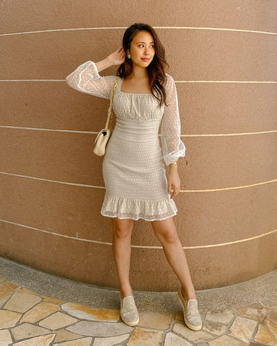 Twosisters The Label Paris Dress Cream Spot