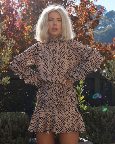 Piper Dress - Leopard Print