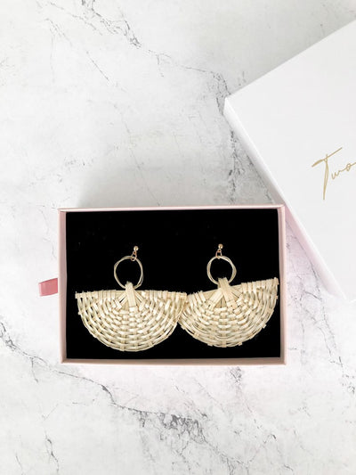 Indah Earrings - Rattan