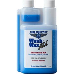 Aero Cosmetics Wash Wax All Concentrate 16oz - Premium Grade Waterless Car Wash Product
