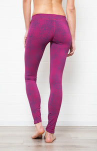 F.S Fushia Pink Purple Cactus Leggings - Yoga Tights