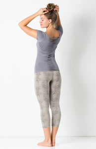 F.S Grey Cactus Capri Pants - 3/4 Yoga Tights