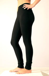 Black Cotton Lycra Leggings