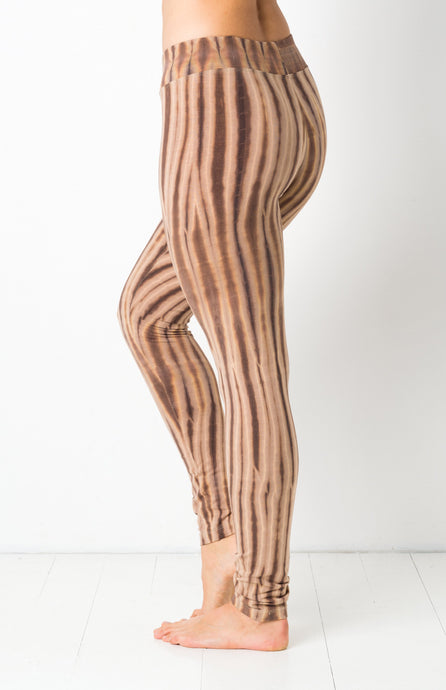Gold Latte Net Tie Dye Leggings- yoga pants