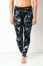 Load image into Gallery viewer, Full Black Smoke Tie Dye Leggings- yoga pants