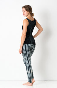 Black/Grey Net Tie Dye Leggings- yoga pants