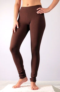 Chocolate Brown Cotton Leggings