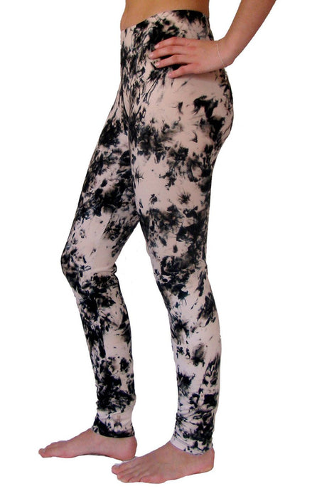 Black Smoke Tie Dye Leggings