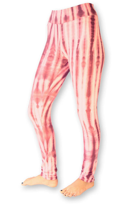 Raspberry Net Tie Dye Leggings- yoga pants