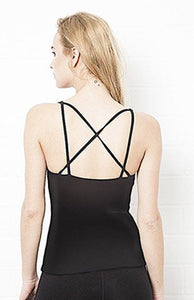 Cross Back Yoga Cotton/Lycra Top