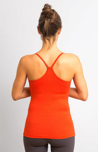 Spicy Orange Viscose/ Lycra  Strap Top