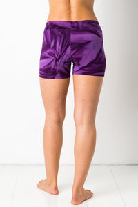 Thin Lycra Purple Star Yoga shorts