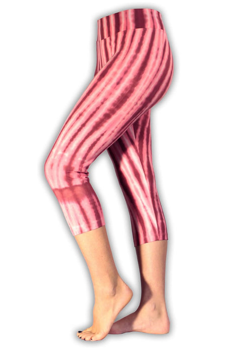 Raspberry Net Tie Dye Capri Leggings
