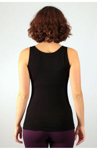 Black Viscose/ Lycra Flow Top