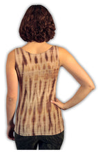 Load image into Gallery viewer, Gold Latte Net Tie Dye Viscose/ Lycra Top