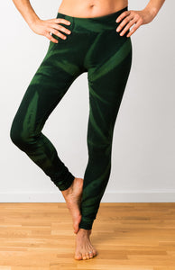Green Star Leggings- yoga pants