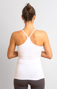 White  Viscose/ Lycra  Strap Top