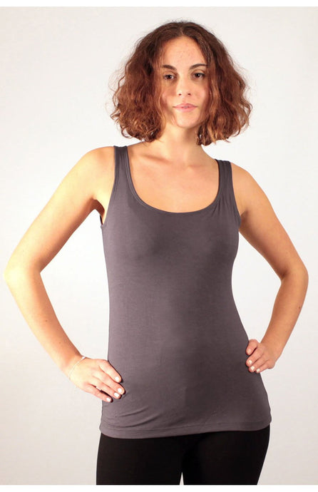 Dark Grey  Viscose/ Lycra Top