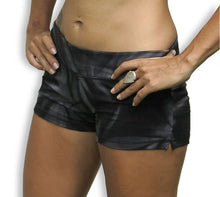Load image into Gallery viewer, Black Star Tie Dye Hot Pants