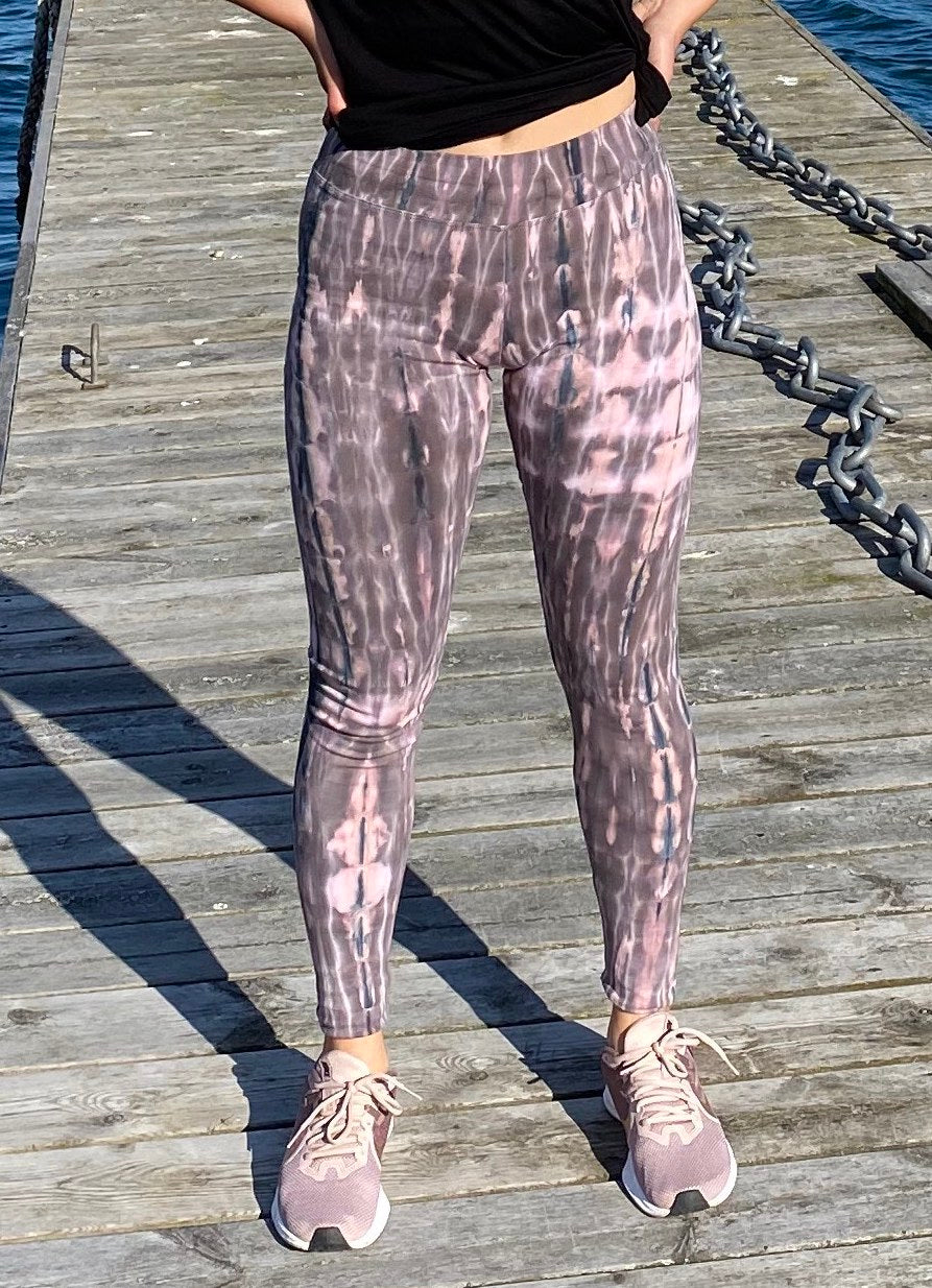 Rose Marble Tie Dye Leggings- yoga pants