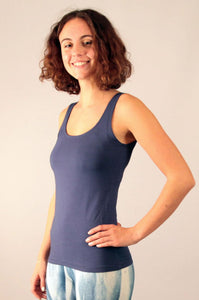 Indigo Viscose/ Lycra Flow Top