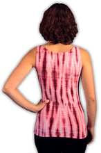 Load image into Gallery viewer, Raspberry Net Tie Dye Viscose/ Lycra Top