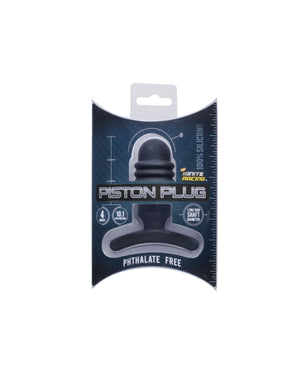 "Si-40700 PISTON PLUG 4"" SILICONE - BLACK"