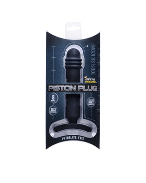 "Si-40702 PISTON PLUG 8"" SILICONE - BLACK"