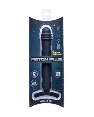 "Si-40704 PISTON PLUG 12"" SILICONE - BLACK"