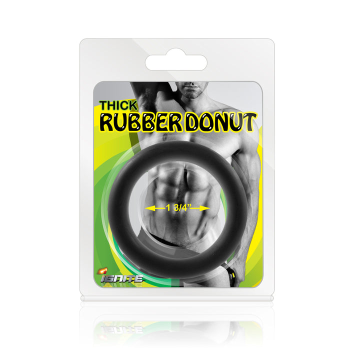 Si-95039 COCK RING - THICK RUBBER DONUT (1.75in/44mm)