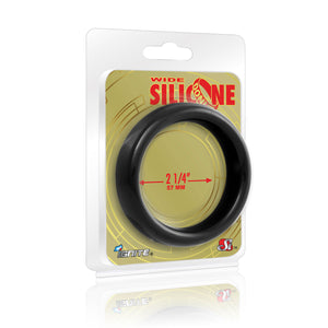 Si-95127 COCK RING - WIDE SILICONE DONUT - BLACK (2.25 in/57mm)