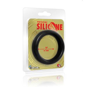 Si-95128 COCK RING - WIDE SILICONE DONUT - BLACK (2.0 in/51mm)