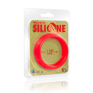 Si-95139 COCK RING - WIDE SILICONE DONUT - RED (1.88 in/48mm)