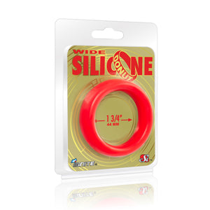 Si-95140 COCK RING - WIDE SILICONE DONUT - RED (1.75 in/44mm)
