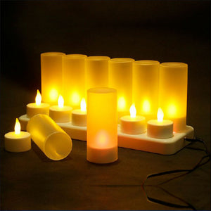 Rechargeable LED Candle Light Set