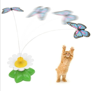 Electric Rotating Butterfly Toy for Cats