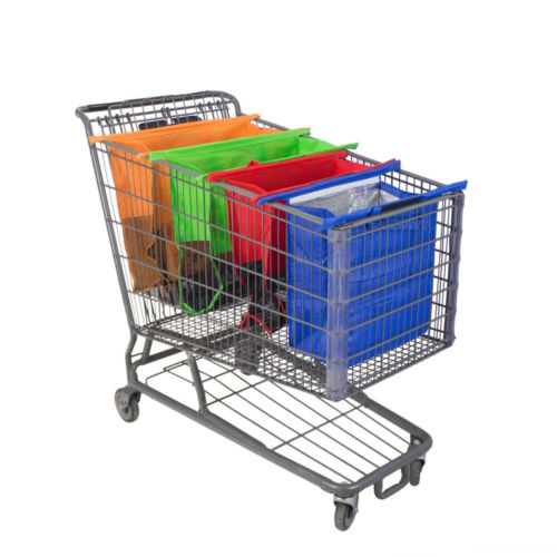 4 in 1 Reusable Grocery Shopping Cart Bags