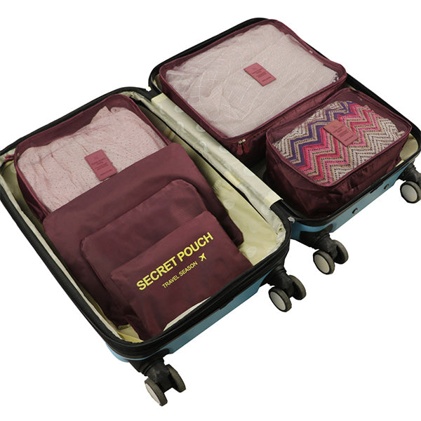 6 PC Travel Luggage Packing Cubes
