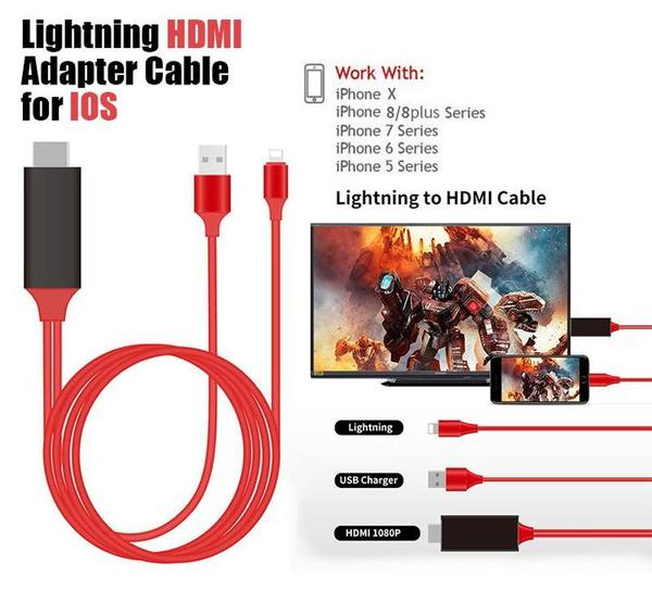 iPhone Screen To TV HDMI Cable