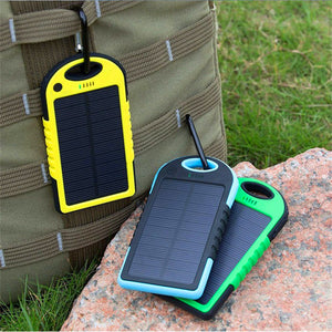 Waterproof Solar Power Bank 5000mAh
