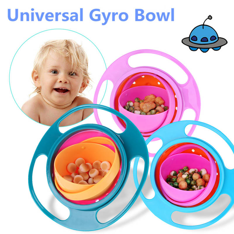 360 Rotate Spill-Proof Gyro Bowl
