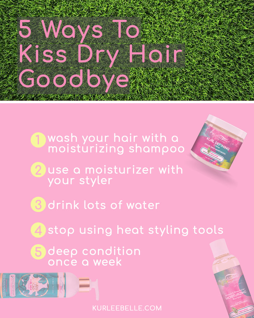 5 Ways To Kiss Dry Hair Goodbye